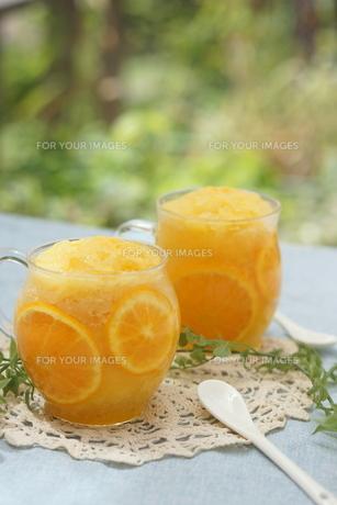 オレンジシャーベットの写真素材 [FYI00665070]