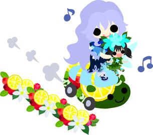 女の子と妖精のイラストのイラスト素材 [FYI00665114]