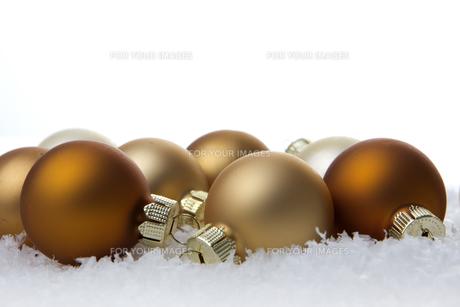 christmas,christmas balls cream and beigeの写真素材 [FYI00667306]