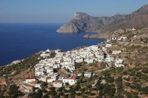 the village mesochori on the greek island of karpathosの写真素材 [FYI00668933]