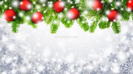 weihnachtlicher snowflakes backgroundの写真素材 [FYI00669232]