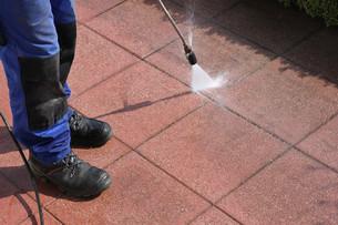 steam cleaner,clean terraceの写真素材 [FYI00669287]