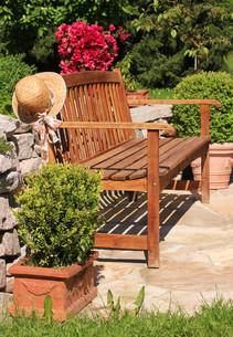 garden bench,garden benchの写真素材 [FYI00669294]