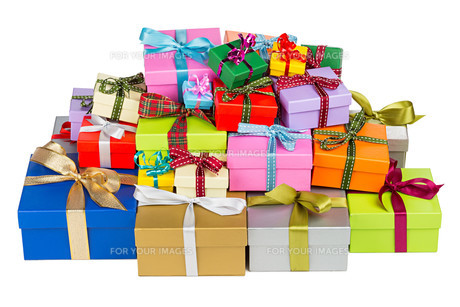 colorful gift boxesの写真素材 [FYI00669341]