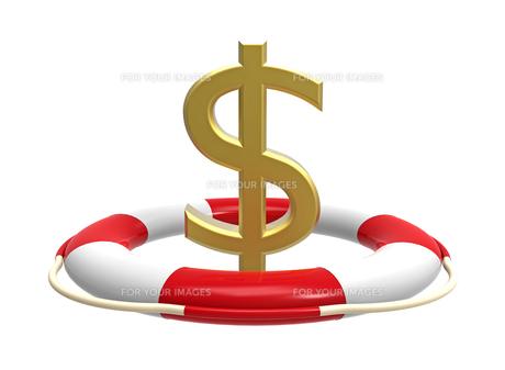 Lifebuoy with dollar signの素材 [FYI00669370]