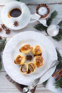 potato dumplings with a meat fillingの写真素材 [FYI00669373]