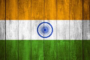 india flagの写真素材 [FYI00670224]