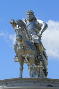 genghis khan monument at zonjin boldogの素材 [FYI00671081]