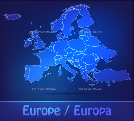 map of europe with borders as scribbleの写真素材 [FYI00671845]
