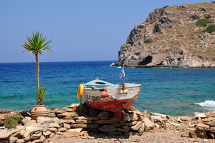 mochlos,a picturesque fishing village in north creteの写真素材 [FYI00672476]