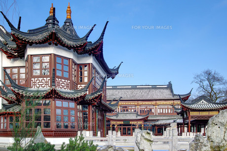 chinese teahouse rotherbaumの写真素材 [FYI00672553]