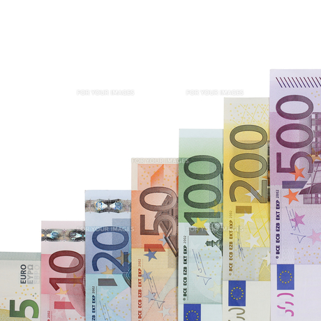 euro bills diagram topic growth and successの写真素材 [FYI00673071]