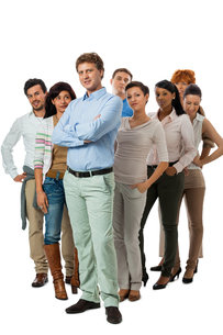 young group team with people different aged business in casual clothingの写真素材 [FYI00673079]