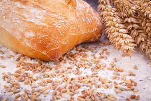 freshly baked crusty bread detailの写真素材 [FYI00673187]