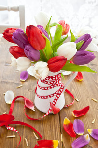 colorful bouquet of tulipsの素材 [FYI00673307]