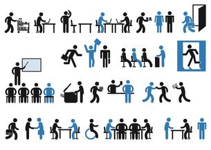 office pictogramの写真素材 [FYI00673794]