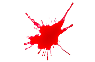 blood splashes on white backgroundの写真素材 [FYI00674087]