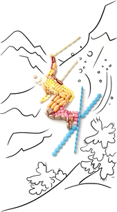 Skier in jump.の写真素材 [FYI00674690]