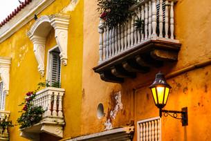 spanish colonial house. cartagena de indias,colombia's caribbean zoneの写真素材 [FYI00675040]