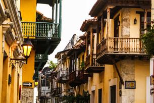 spanish colonial house. cartagena de indias,colombia's caribbean zoneの写真素材 [FYI00675046]