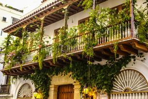 spanish colonial house. cartagena de indias,colombia's caribbean zoneの写真素材 [FYI00675048]