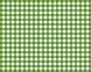 tablecloth with green-white checkered patternの写真素材 [FYI00675257]