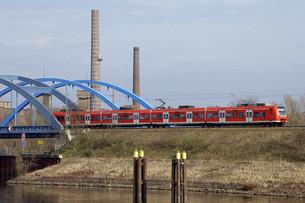 railway bridge wittenbergeの写真素材 [FYI00675291]