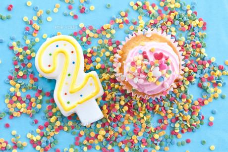 small colorful cupcakeの素材 [FYI00676021]