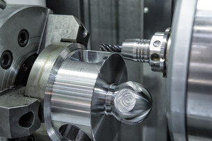 lathe,cnc milling machineの写真素材 [FYI00676705]