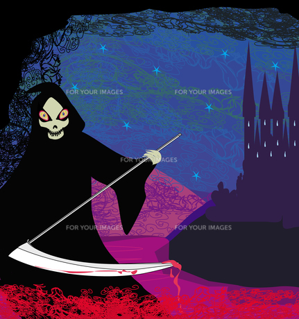 grim reaper illustrationの素材 [FYI00678556]