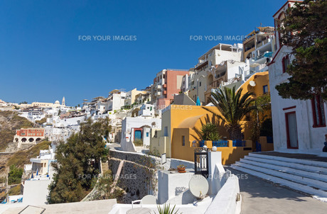 view of fira and imerovigli,santoriniの素材 [FYI00678741]
