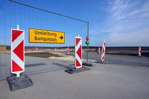 roadblock and detourの写真素材 [FYI00679238]