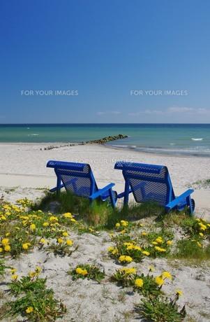 relax on the beach of kellenhusen,schleswig holsteinの写真素材 [FYI00679469]