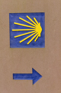 symbol of the camino de santiagoの写真素材 [FYI00680275]