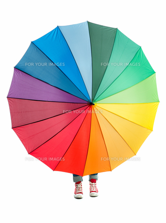 colorful umbrellaの素材 [FYI00683361]
