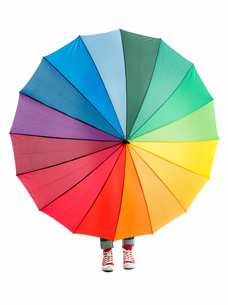 colorful umbrellaの写真素材 [FYI00683361]