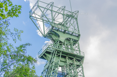 headframe zeche carl funke in essenの写真素材 [FYI00683395]