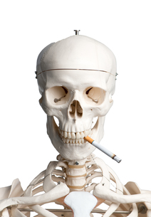 skeleton with cigaretteの素材 [FYI00683413]