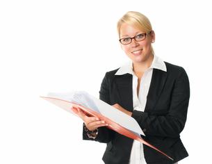 businesswoman with documentsの写真素材 [FYI00683415]
