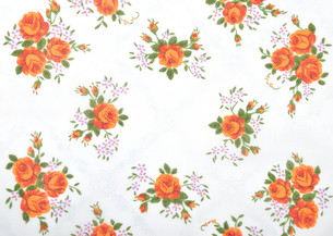 cloth with floral decorationの写真素材 [FYI00683459]