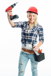 female craftsman cordless screwdriver and drillの写真素材 [FYI00683463]