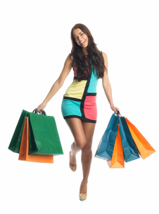 young woman on a spending spreeの写真素材 [FYI00683550]