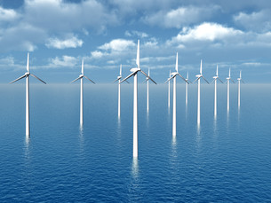 offshore wind parkの写真素材 [FYI00684025]
