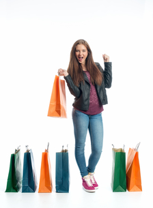 girl on a spending spreeの写真素材 [FYI00684080]