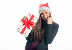 christmas girl with giftの写真素材 [FYI00684099]