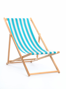 striped deckchairの写真素材 [FYI00684116]