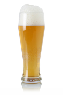 beer in glass with frothの写真素材 [FYI00684261]
