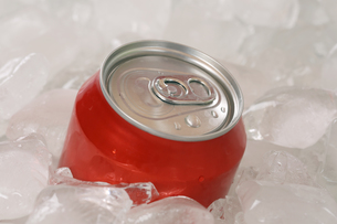cola in a can on iceの素材 [FYI00684269]