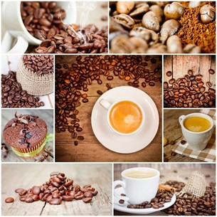 collage coffeeの写真素材 [FYI00684708]