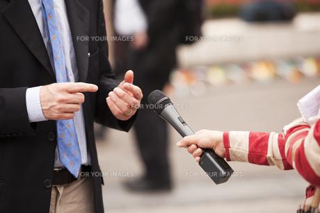 interviewの写真素材 [FYI00685223]